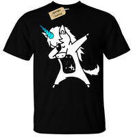 KIDS BOYS GIRLS Dabbing Unicorn T-Shirt Top dab childrens