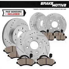 Front+Rear Drill Slot Brake Rotors & Ceramic Pads For 2007 - 2010 Mini Cooper