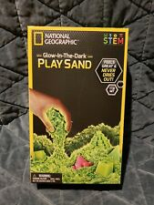 National Geographic Glow In The Dark Kinetic Play Sand Molds & Tray