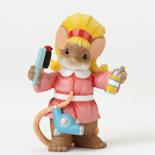 Charming Tails Hair Stylist Salon Mouse Figure NEW 4042547 Profession