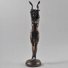 Grande Art Deco Bronce Escultura Medusa Erótico mito griego Serpientes Desnudo Nuevo 01028