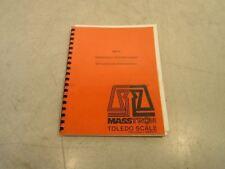 Masstron Toledo Scale M8141 Operation Manual