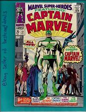 Marvel Super Heroes #12 1st appearance Captain Marvel Mar-Vell Silver Age