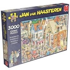 JUMBO JIGSAW PUZZLE THE BUILDING SITE JAN VAN HAASTEREN 3000 PCS CARTOON #17462