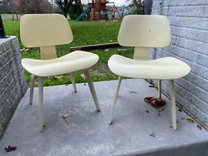 4 Charles Eames DCW Herman Miller Mid Century Modern Chairs Walnut