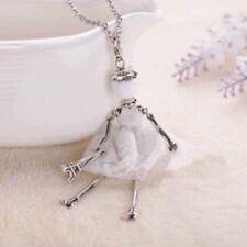 Collares y colgantes de bisutería color principal blanco de vidrio