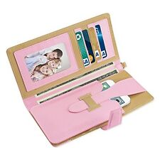 Reiko 2 Tone Super Wallet Case Snap Button & Card Slots iPhone 6/6s - Pink Gold