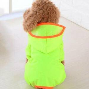 Pet Dog Rain Coat Clothes Puppy Four-legged Jacket Hooded Raincoat YS