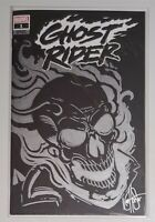 GHOST RIDER 1 BLANK VARIANT REMARKED AND SIGNED BY KEN HAESER W/COA