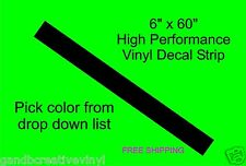 """6"""" x 60"""" Windshield Banner Racing Stripe Vinyl Decal For Cars Trucks Autos"""