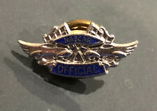 🔴 Vintage 1960's NASCAR Official's Pin Silver & Blue-VERY RARE & HARD TO FIND!
