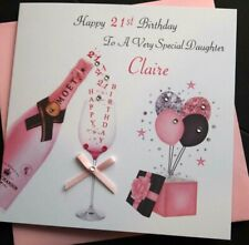 Handmade Personalised Birthday Card Daughter Granddaughter Nicene 21st 30th 40th