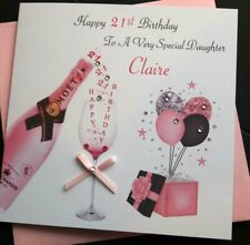 Handmade Personalised Birthday Card Daughter Granddaughter Nicene 21st 30th 40th