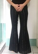 ENCHANTEMENT ? Bell Bottom Silk Pants Size 38 Vintage Look