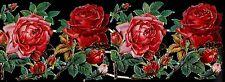 LOT de 4 magnifiques chromos découpis roses rose fleur fleurs flowers flower