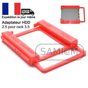 """Support adaptateur pour Disque Dur HDD SSD 2,5"""" vers rack 3,5"""""""