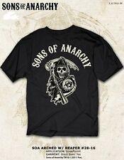 Sons Of Anarchy Soa Grim Reaper Negro Samcro Hoz Moto Club Camiseta S-3XL
