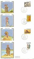 Canada SC # 578-581 Iroquois Indians FDC . Colorano Silk Cachet.