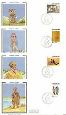 Canada Sc # 578-581 Iroquois Indians Fdc . Colorano Silk Cachet.