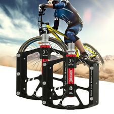 Pair Flat Bicycle Pedals MTB Bike Platform Pedal Slide Fastening-Aluminium Alloy