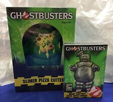 """GHOSTBUSTERS lot of SDCC """"Angry Stay-Puft"""" opener & Slimer """"Pizza"""" Slicer MIB"""