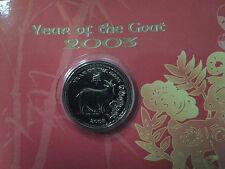 Royal Mint Malaysia issue -  Goat Lunar MEDALLION year 2003 -BU