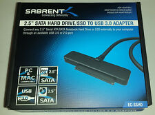 "Sabrent USB 3.0 to 2.5""  SATA SSD Hard Drive Adapter support UASP SATA III,  WD"