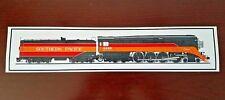 Southern Pacific Railroad X-4449 Steam Locomotive Bumper Sticker - Decal
