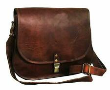 Vintage Messenger Bag Women Fancy Handmade Natural Brown Pure Goat Leather