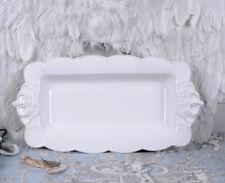 PLATTE SERVIERTELLER LANDHAUSSTIL FLEISCHPLATTE Porzellanplatte SERVIERTABLETT