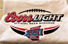 Coors Light Super Bowl #42 Beer Sponser XLII Sz XL  WHITE Low $3 Ship