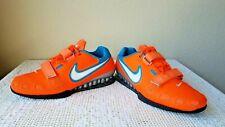 NIKE Romaleos 2 Power Lifting Training Shoes Men's Size 13 ~ Orange/Blue Lagoon