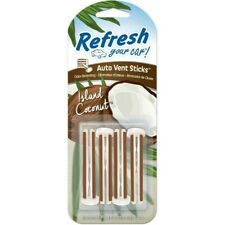 Actualizar 4 Pack Vent Stick Ambientador Coche-Coco isla