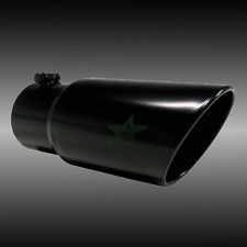 "4"" inlet 6"" outlet 18"" long Death Metal Rolled Angle Diesel Exhaust Tip"