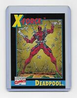 Deadpool Rookie card #3 Marvel Impel 1992 X-Force Promo - NM Ships in Toploader!