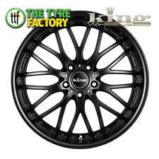King Wheels MALICE 19x8.5 5/120 40P FULL SATIN BLACK  Alloy Wheels