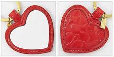 NWT Coach 67433 Embossed Liquid Heart Mirror Key Ring Key Chain