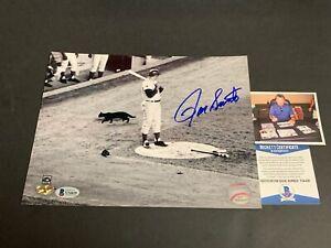 Ron Santo Chicago Cubs Autographed Signed 8x10 Photo Black Cat Beckett COA