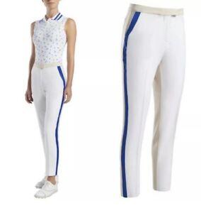 G/Fore Color Block Trouser Pants $165 GFore Womens Snow/Stone/Lapis 0 2 4 10
