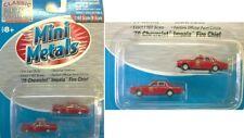 50247 Paquet de 2 Voitures Chevrolet Mini Metals  N 1/160