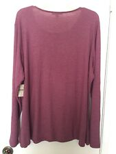 Coldwater Creek Knit Top 2X Rose Pink Long Sleeves NWT