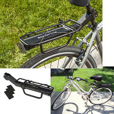 Bike Rear Rack Bicycle Back Seat Alloy Mount Lightweight Mounting Pannier Bags