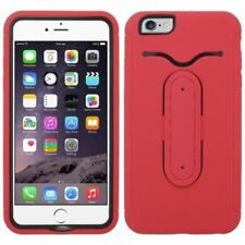 Fundas y carcasas color principal rojo de silicona/goma para teléfonos móviles y PDAs Apple