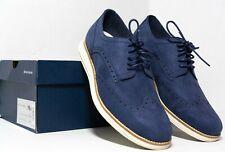COLE HAAN Mens Original Grand Blue Wingtip Oxford Shoes c28875 Size 8.5
