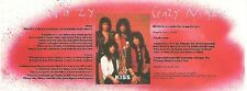 KISS Crazy Nights lyrics  magazine PHOTO / mini Poster 8x3 inches