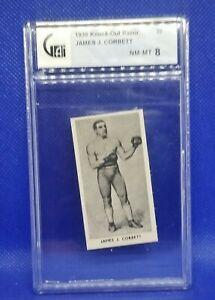 1938 KNOCK OUT RAZOR # 43 JAMES J CORBETT NM-MT 8 FAMOUS PRIZE FIGHTERS