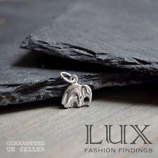 1 x Sterling Silver 925 Petite Elephant Pendant Bracelet Charm Jewellery Gift