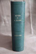 Œuvres d' Alphonse DAUDET    reliure de plusieurs pièces de THEATRE