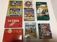 nintendo game Game Boy Famicom Super Nintendo with box and instructions japan