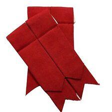 Men's Kilt Sock Flashes Plain Red Tartan/Red Scottish Kilt Hose Socks Flashes